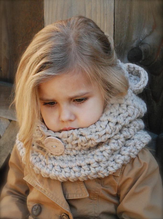 Вязание спицами детский снуд 36
