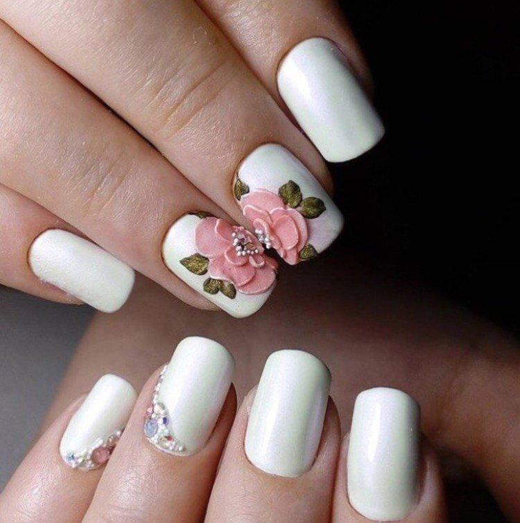 Маникюр На Короткие Ногти Фото Дизайн Однотонные