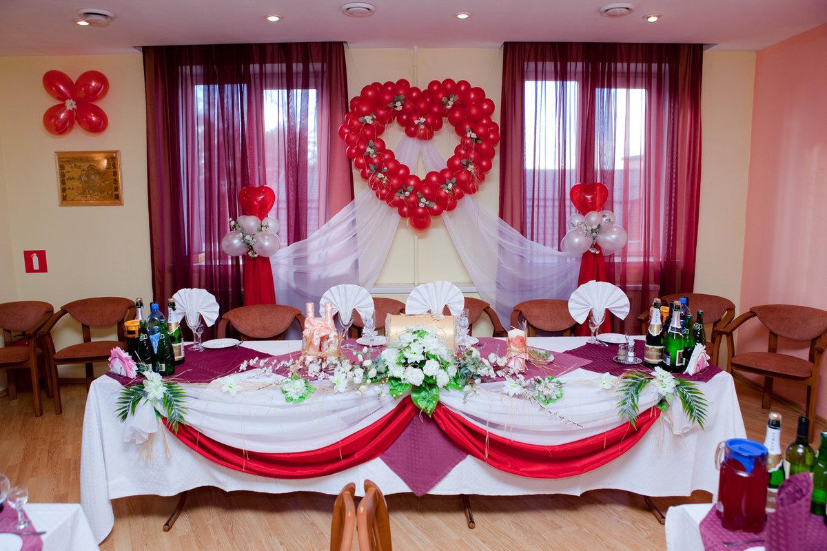 Украшение свадебного зала и стола своими руками