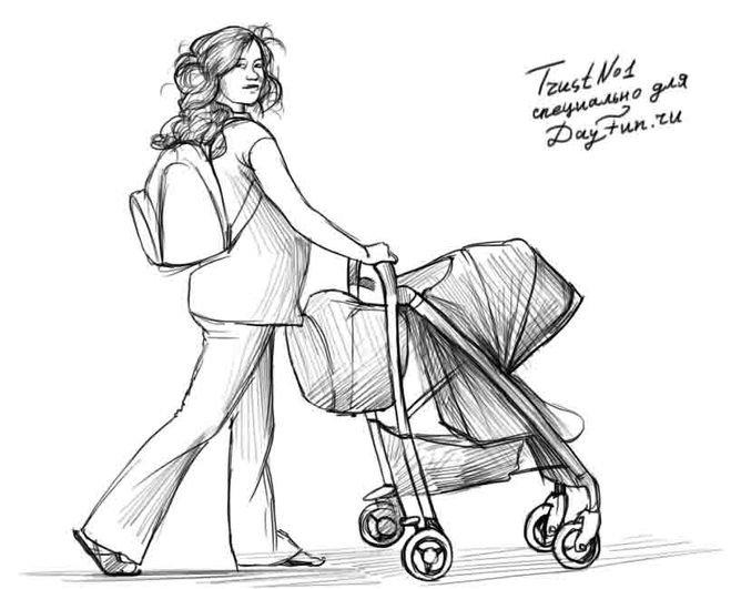 Рисунки беременных женщин карандашом 95
