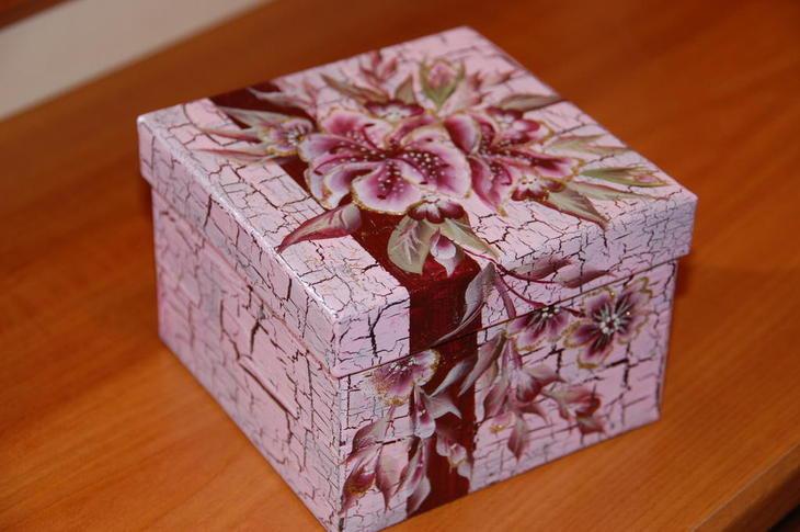 Картонная коробка своими руками декупаж 98