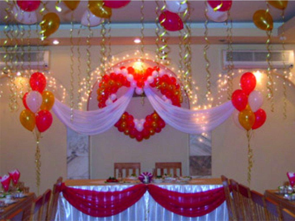 Фото как своими руками украсить зал для свадьбы своими руками 86