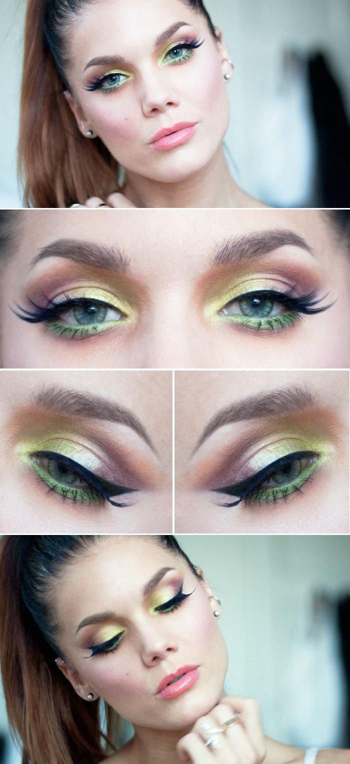 Фото макияжа для зеленых