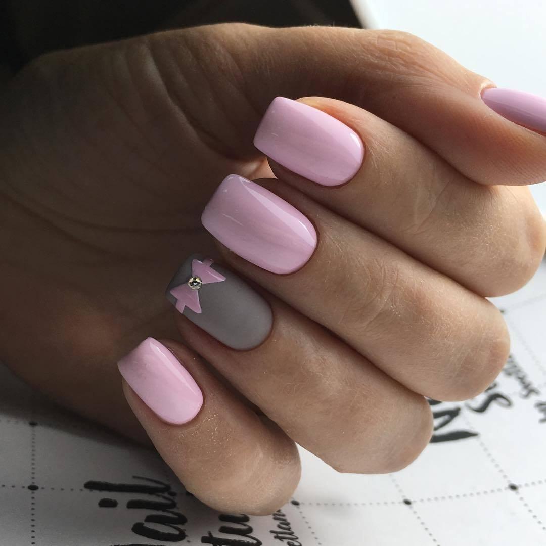 Дизайн Ногтей С Розовым Гель Лаком Фото