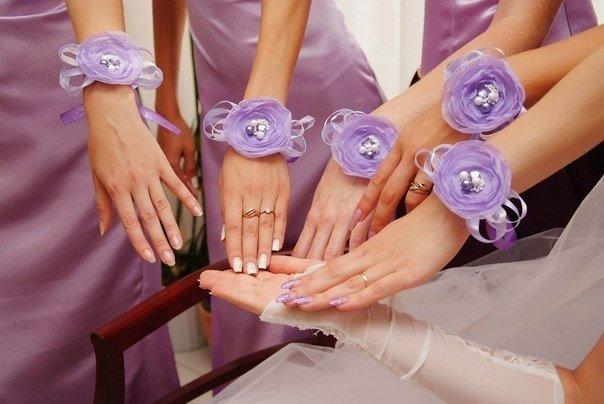 Цветок на руку подружкам невесты своими руками мастер класс 70
