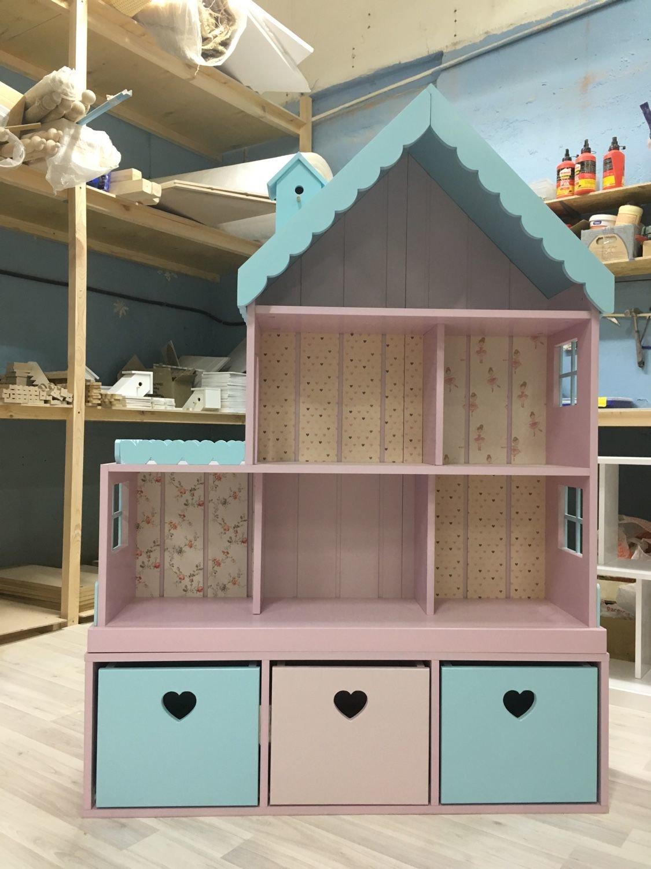 Как сделать домик для куклы в детской 693