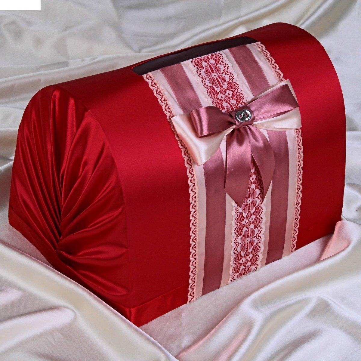 Сундук для денег на свадьбу своими руками из коробки фото в красном цвете 66