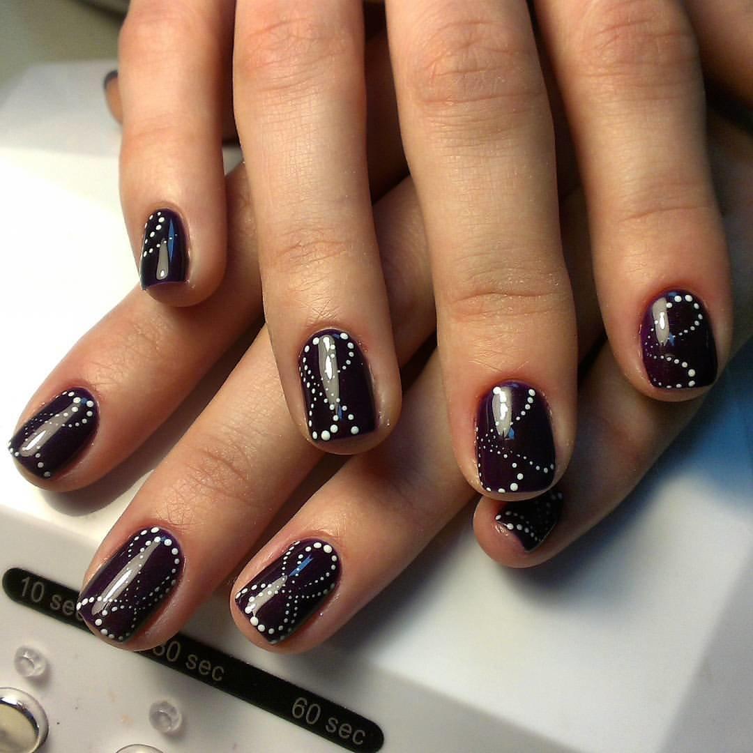 Фиолетовые Ногти Дизайн Гель Лак Фото
