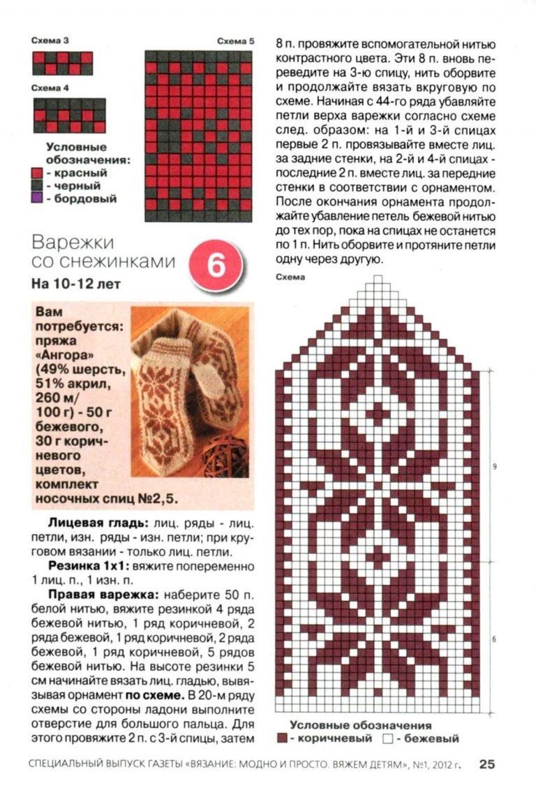 Планета Вязания Вязание варежек спицами - пособие для 35