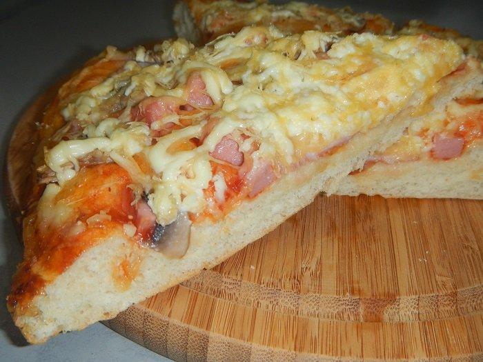 Пицца своими руками без дрожжей в духовке 974