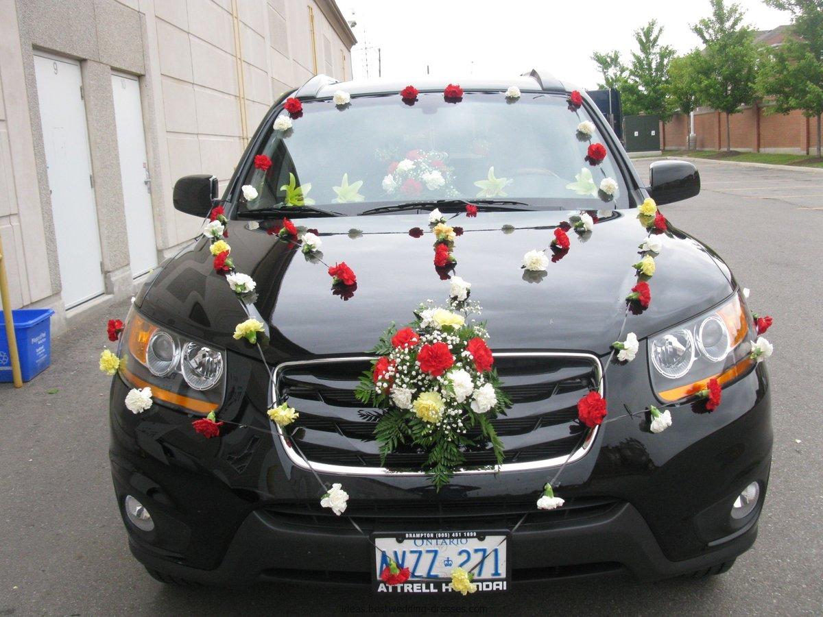 Делаем сами: украшение для машины на свадьбу своими руками 94