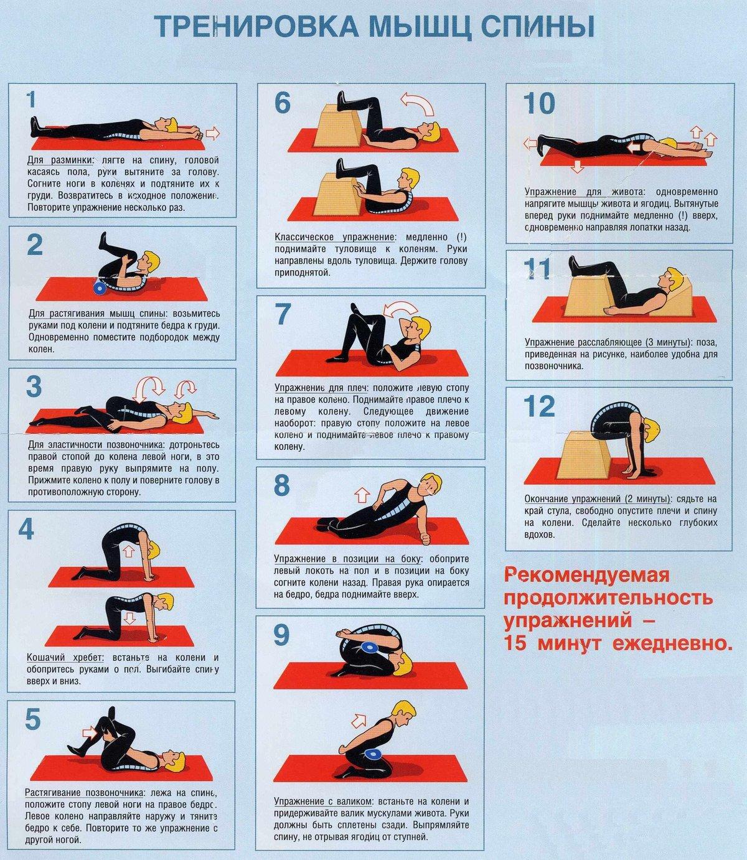 Поясничный остеохондроз упражнения в домашних условиях