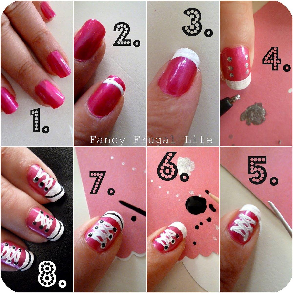 Кеды на ногтях поэтапно фото для начинающих