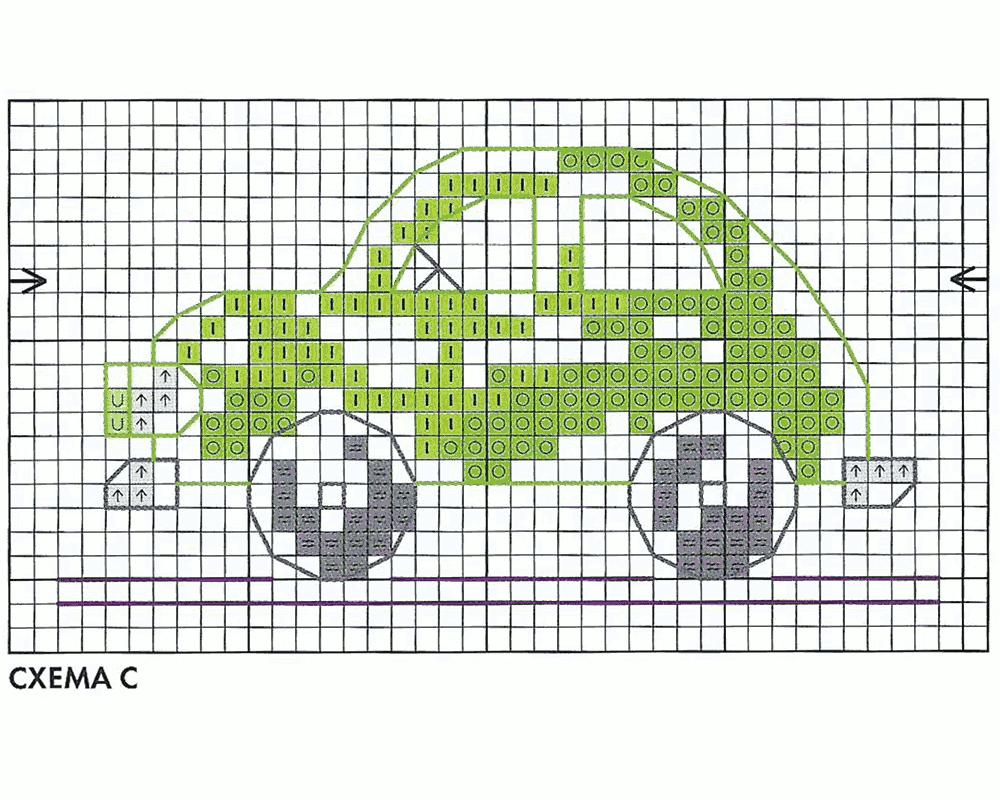 Схема вышивки на машинке 49