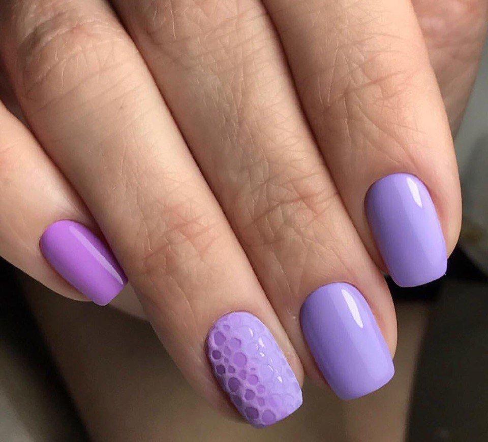 Шеллак Лавандовый Цвет На Ногтях Фото