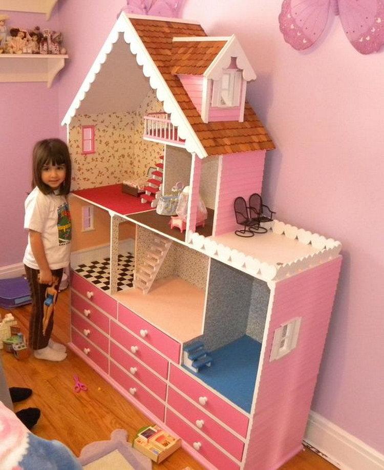 Кукольный домик своими руками пошаговое фото 36