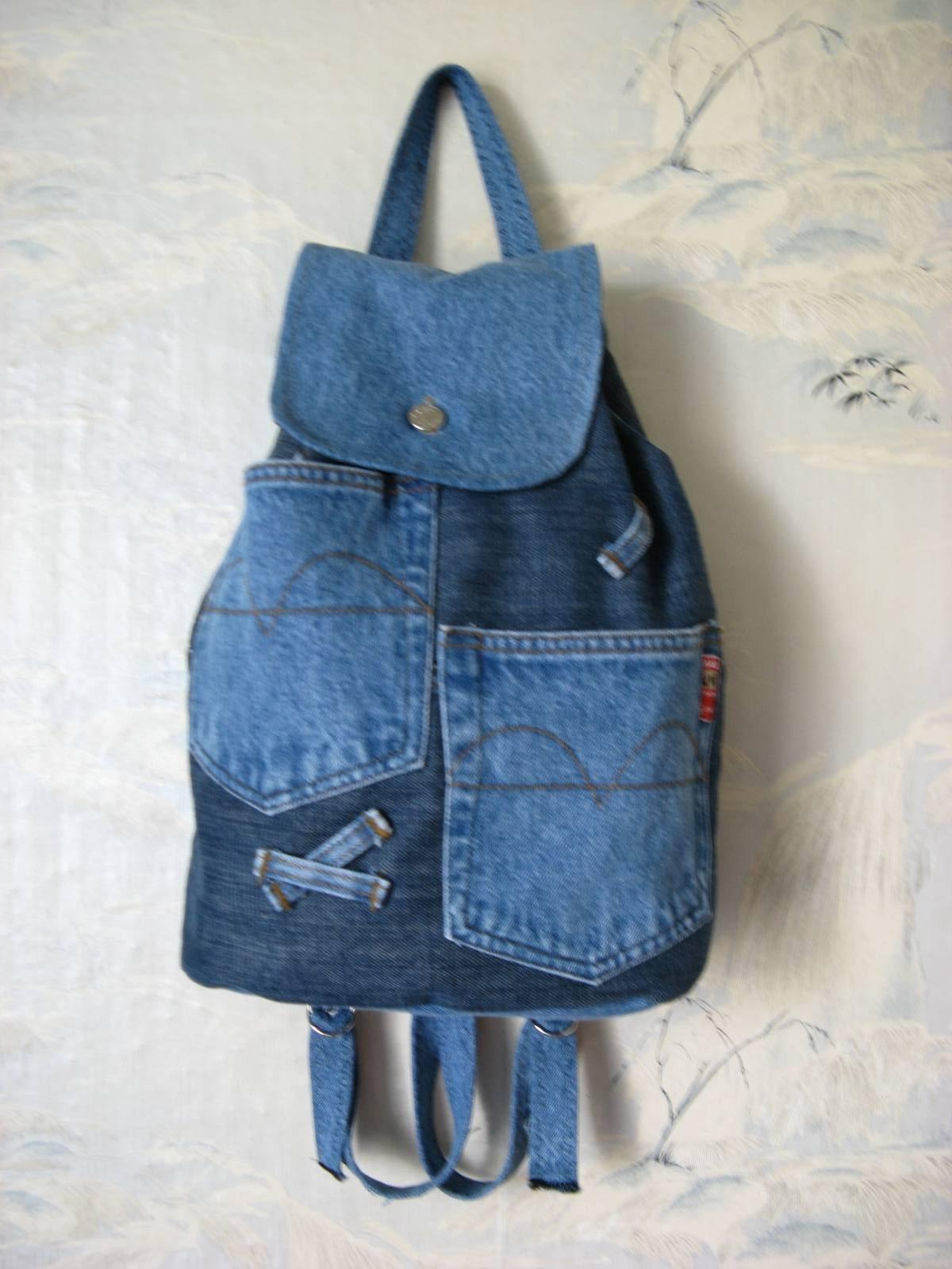 Из джинсы сшить рюкзак 47