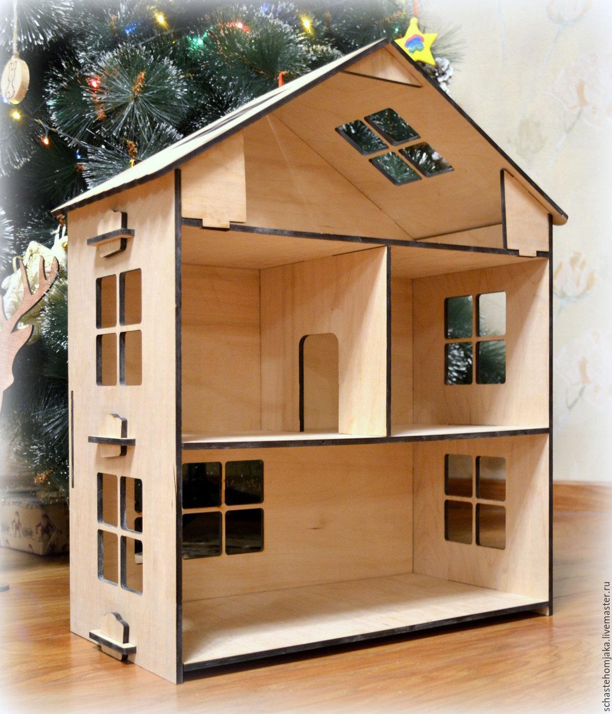 Кукольный домик своими руками - 66 фото создания игрушечного 59