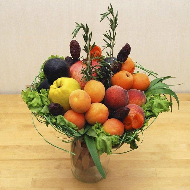 Овощной фруктовый букет своими руками 55