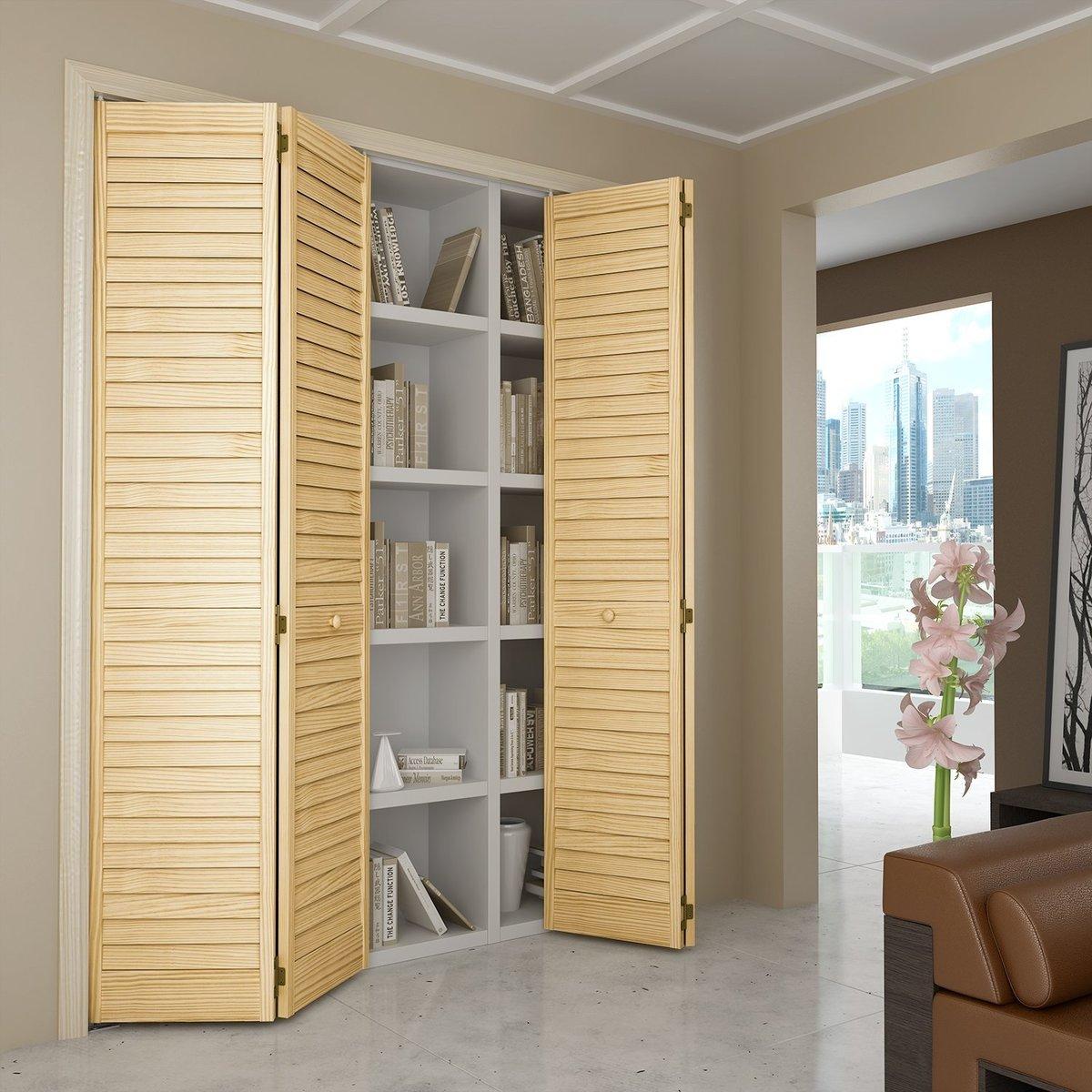 Встроенный шкаф с жалюзийными дверцами своими руками