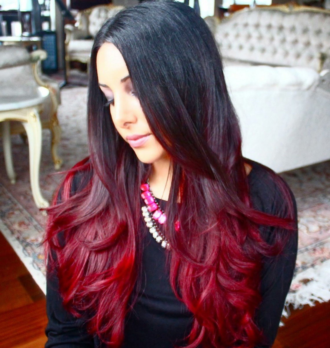 How to Make Natural Fashion hair red dyed