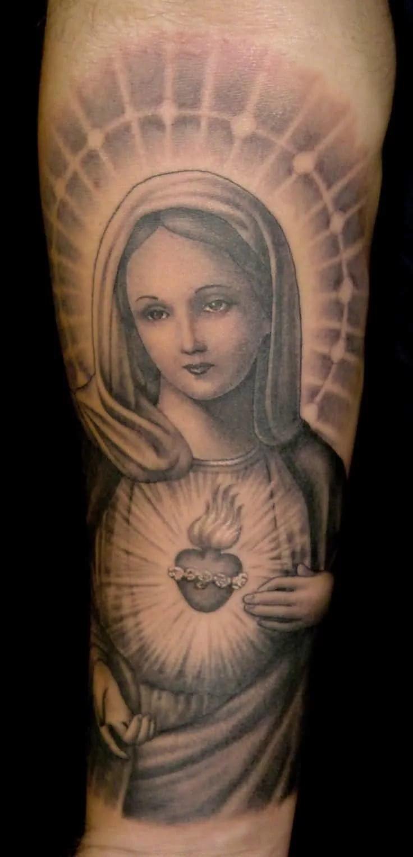 Татуировка дева мария фото
