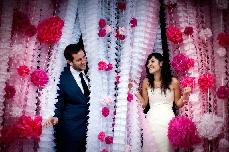 Красивые гирлянды своими руками для свадьбы 33