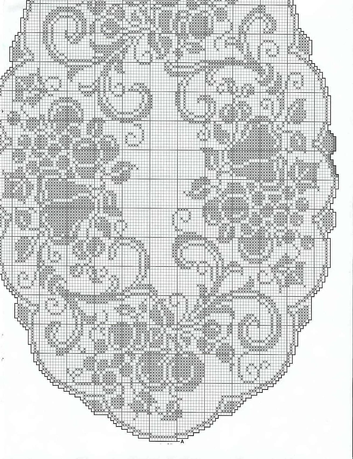 Филейное вязание салфетки скатерти схемы 42