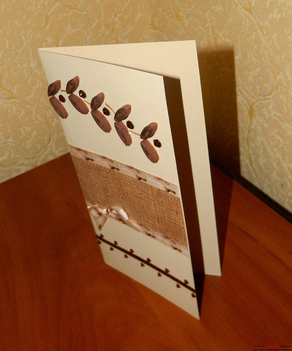 Идея для открытки своими руками на свадьбу
