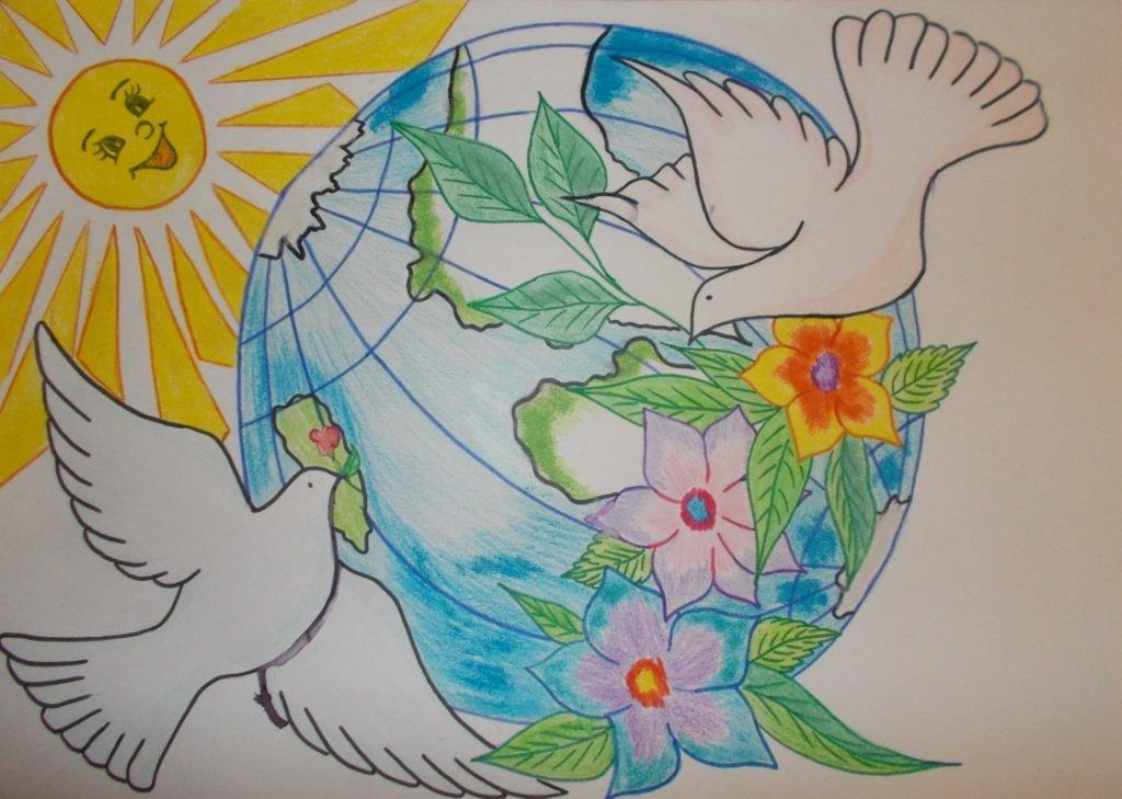 Мир рисунки своими руками 977