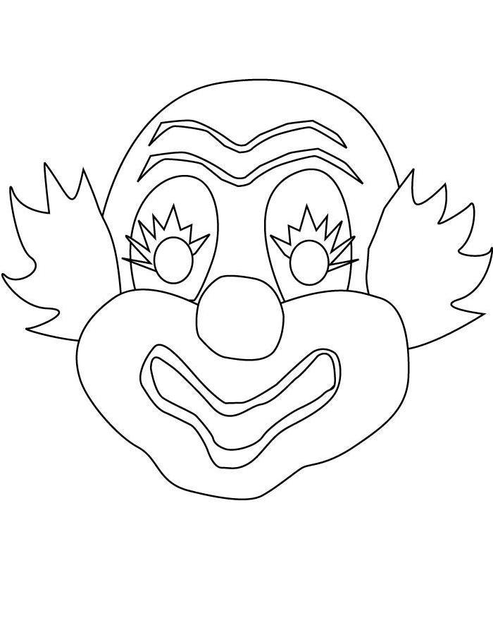 Маска клоуна сделать своими руками 503