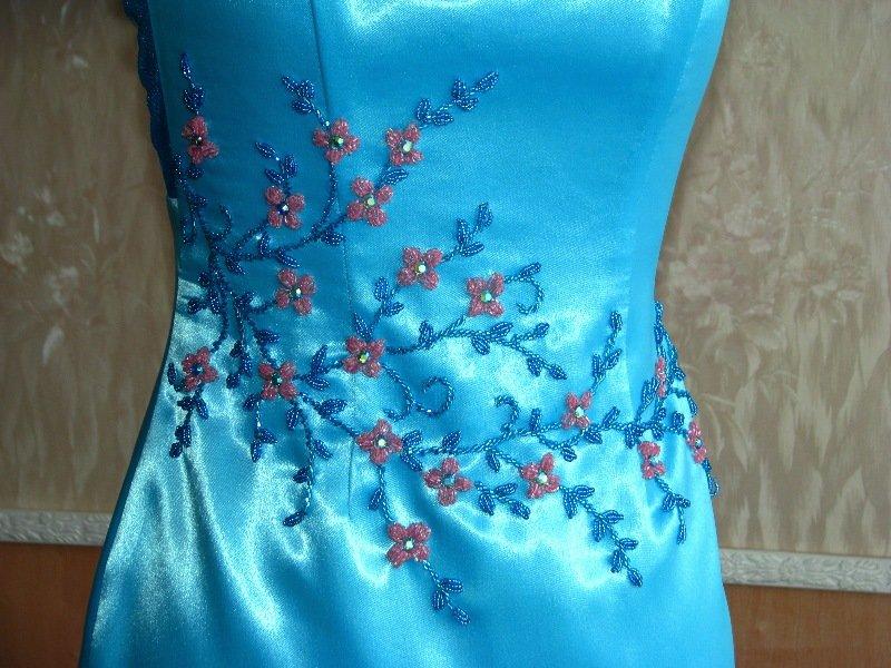 Вышивка бисером на платьесвоими руками 6