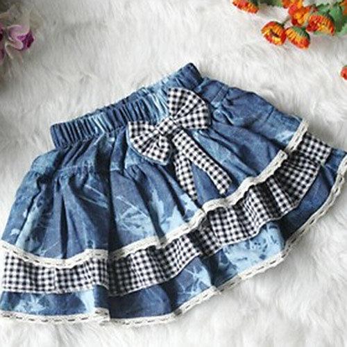 Как сшить юбку для девочки из джинса 49