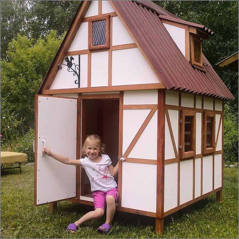 Как построить домик для девочки своими руками 82