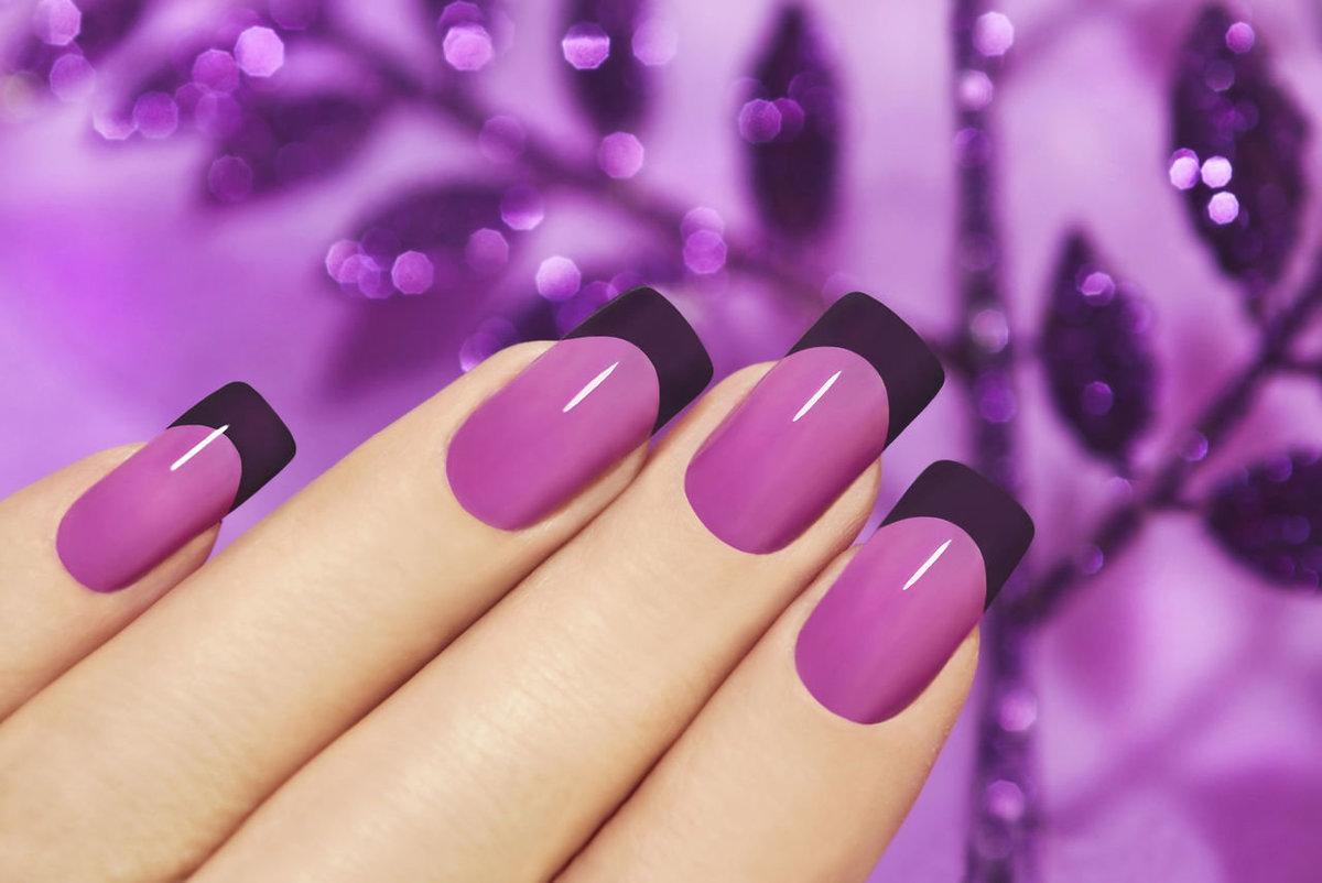 Дизайн ногтей в фиолетовых тонах