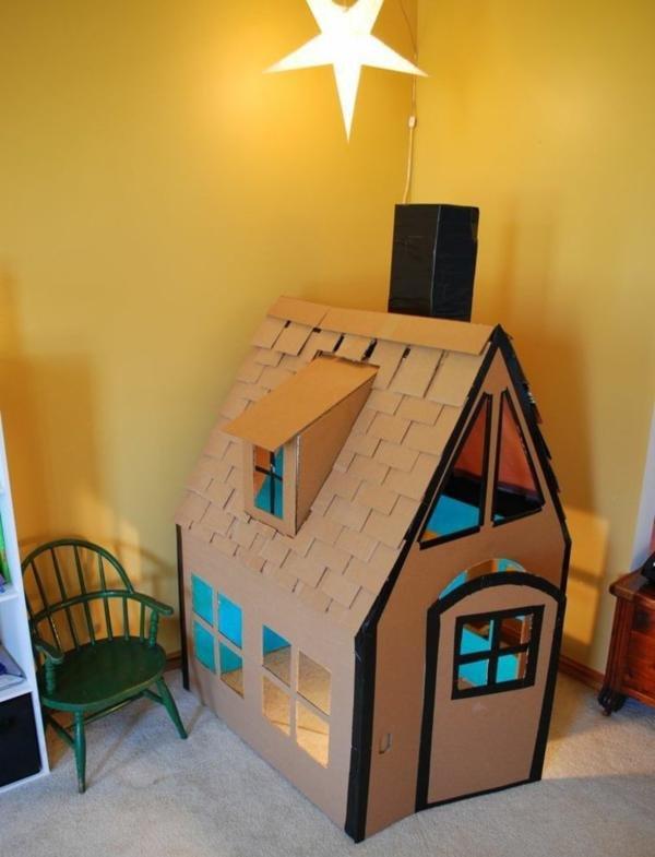 Как сделать дом поделку из картона 39