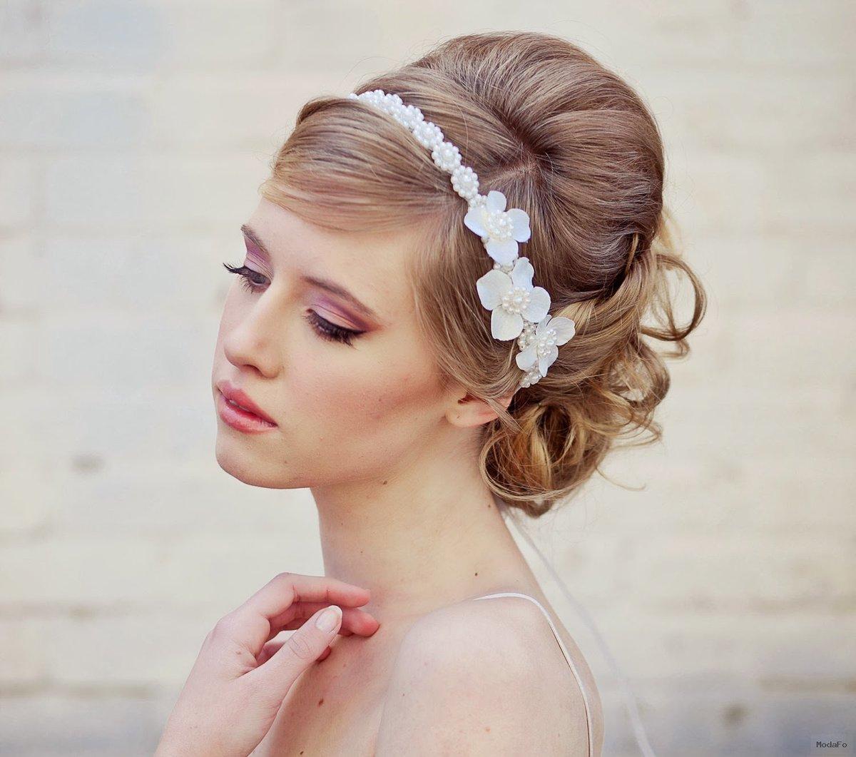 Красивые свадебные прически для каждого типа волос. 151 лучшее фото 30