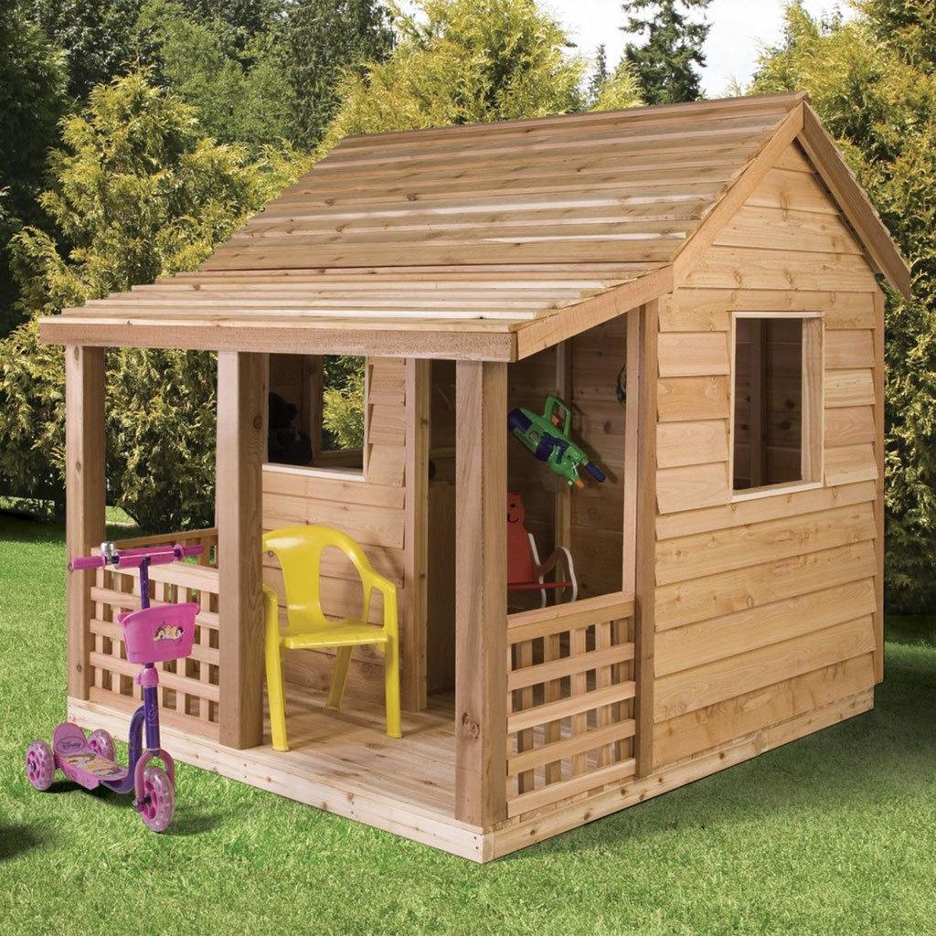 Детский домик из дерева своими руками: строительство избушек 91