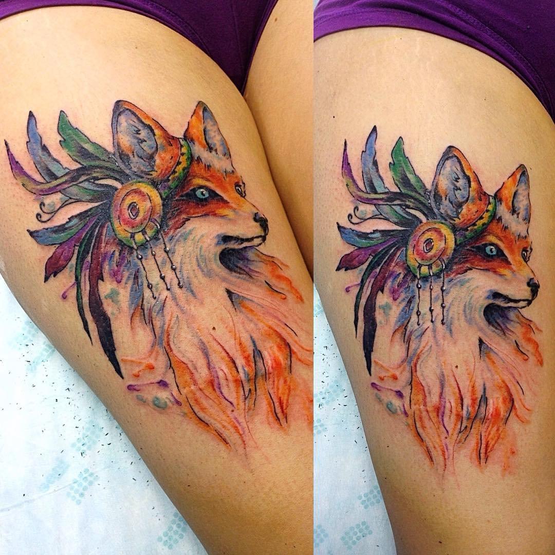 Татуировка лиса. Символика, основное 40
