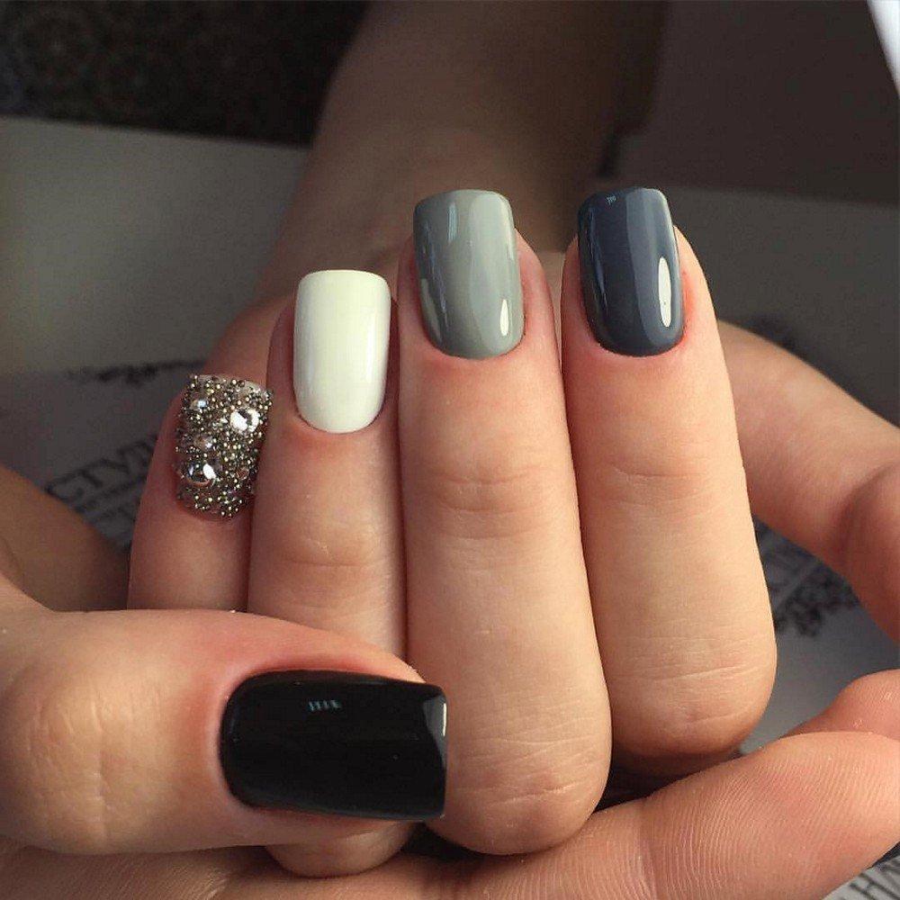 Ногти дизайн с одним ногтем другого цвета фото