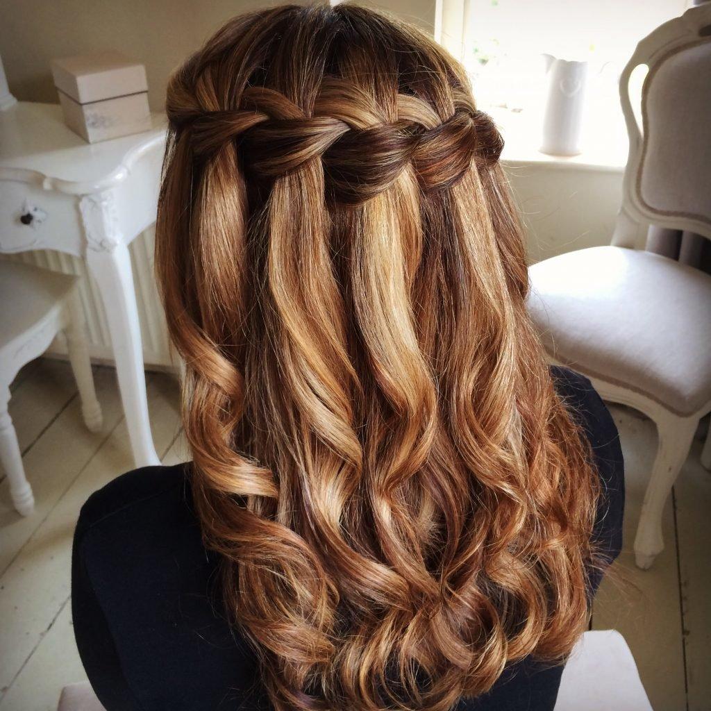 Прически водопад на средние волосы фото
