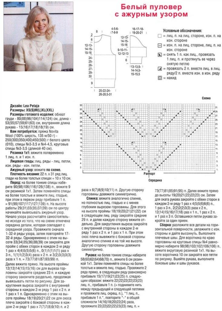Вязание круговыми спицами свитеров 891