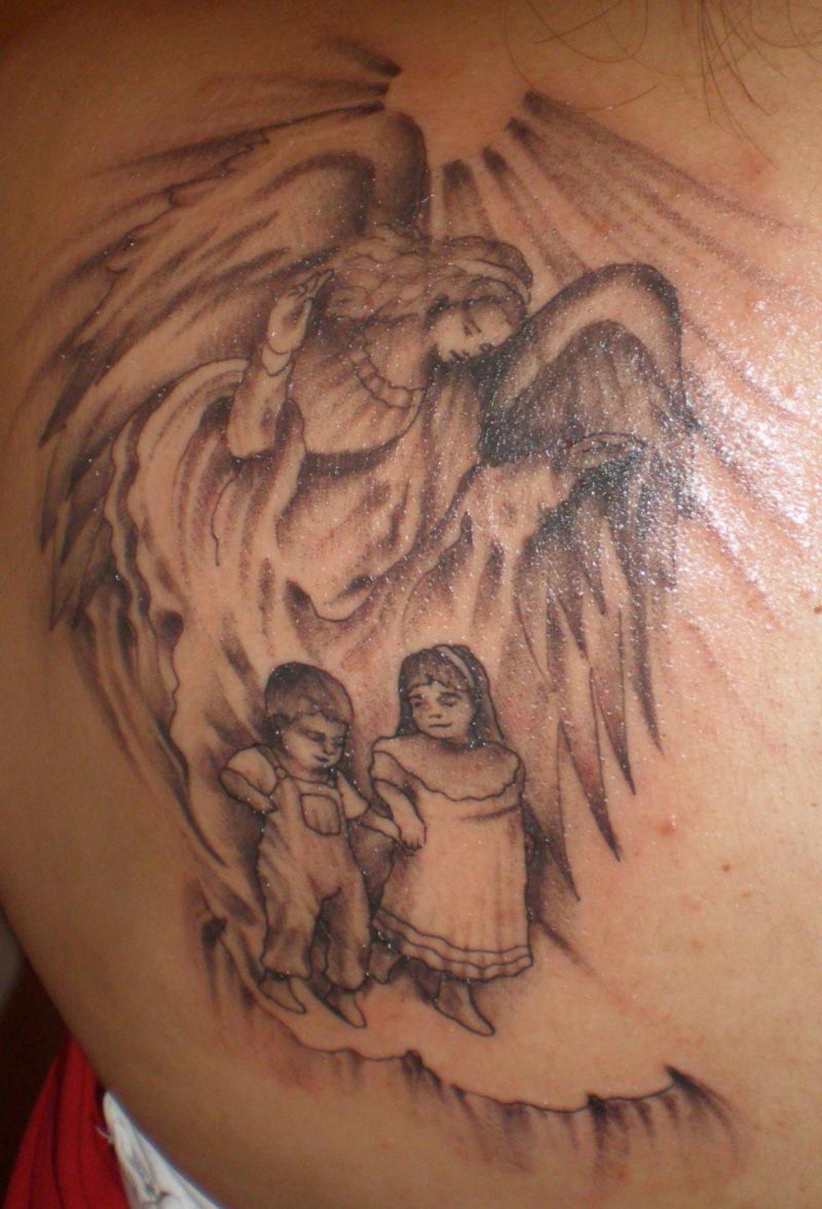 Тату ангелов детей фото