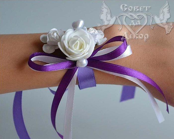Бант на руку для подружек невесты своими руками 325