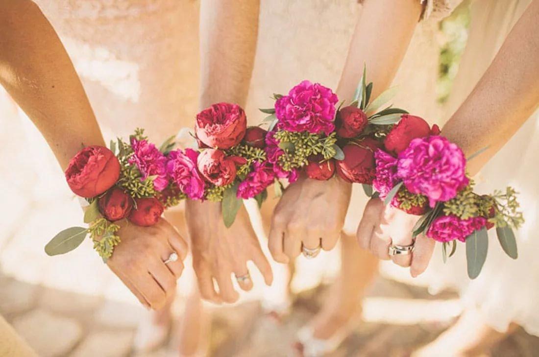 Букет на руку для подружек невесты своими руками 133