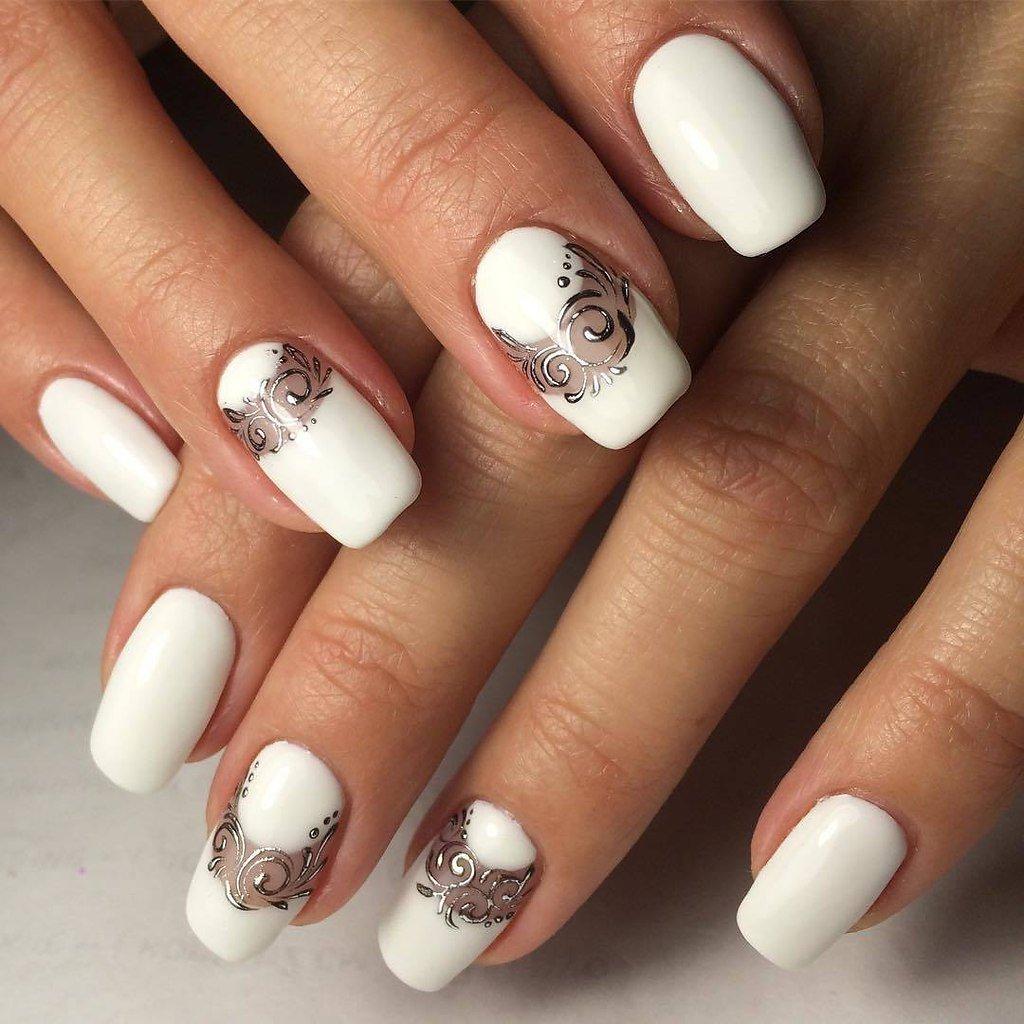 Дизайн ногтей 2018 фото белые цвета