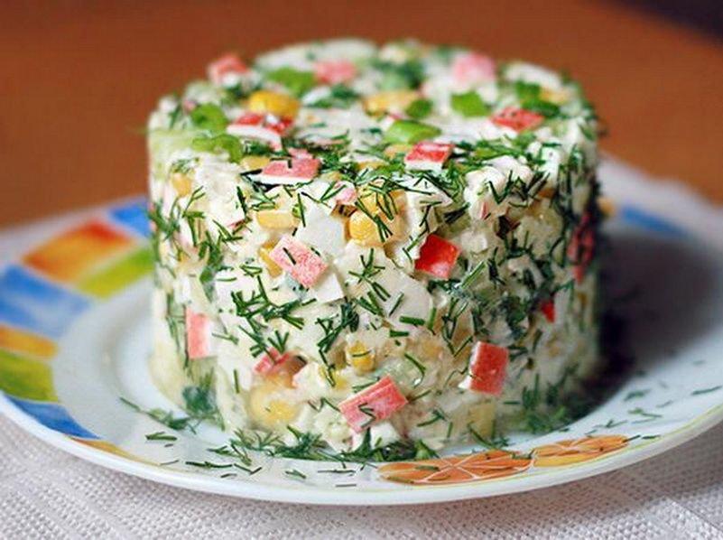 Салат из крабовых палочек обычный рецепт 94