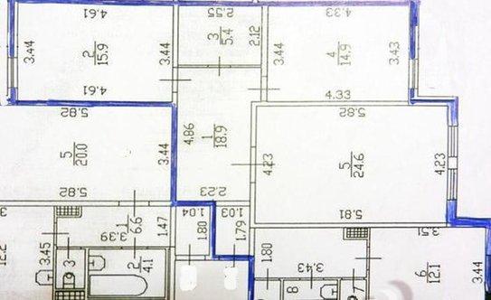 Продам, 3-комнатная квартира, готовые, свердловский район, гладкова ул, хрущевка
