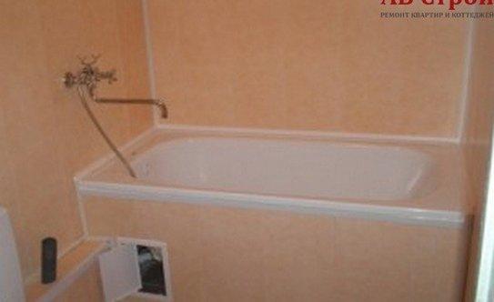 Ремонт в ванной комнате из пластика