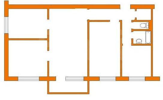 Дизайн 4 х комнатной хрущевки
